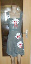 Upcycling süßes Strickkleidchen Schabby Vintage  gr. 34-38 Häkeldeckchen&Spitze