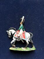 SOLDAT DE PLOMB CAVALIER EMPIRE OFFICIER CHEVAUX LEGERS BAVARIAN 1812