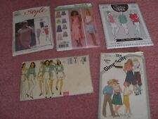 Job Lot of 5 mixed Sewing Patterns. Vogue, Cotton & Chalk, Simplicity & Style.