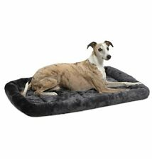 36L-Inch Gray Dog Bed or Cat Bed w/ Comfortable Bolster Machine Wash & Dry
