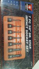 "NEIKO 7 PC 3/8"" DR STAR IMPACT SOCKET SET 01132A"
