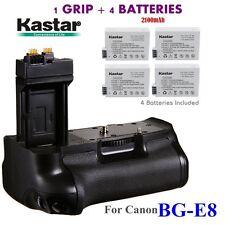 BG-E8 Grip + 4x LP-E8 Battery for Canon EOS 550D 600D 650D 700D T2i T3i T4i T5i