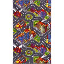 Teppich Straßenteppich Big City Stadt Straße Kinderteppich 140x200 cm bunt