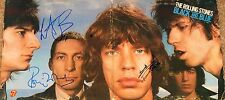 ROLLING STONES HAND SIGNED BLACK AND BLUE ALBUM BY RICHARDS WOOD WATTS! W/PROOF!