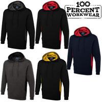 JCB Work Wear Trade Two Tone Grey Heavyweight Full Zip Hooded Sweatshirt Hoodie