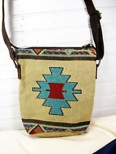 Hand Bag Crossbody Style Tapestry Jacquard Carrizo  Pattern
