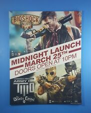 Bioshock Infinite / Army of Two Midnight Launch Video Game Store Display Sign