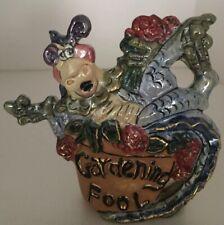 2004 Blue Sky Clayworks Dragon Gardening Fool Votive