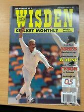 WISDEN CRICKET MONTHLY MAGAZINE (JAN 1995) - SHANE WARNE COVER & ARTICLE