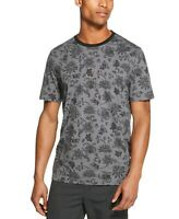 Dkny Men's Floral Graphic T-Shirt Gray & Oxblood Sz Sm To XL $39