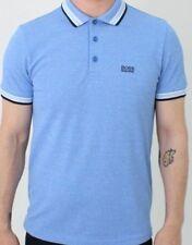 Nuevo polo para hombre Paddy Hugo Boss camiseta Azul Claro 50302557 Talla S