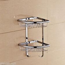 Modern Chrome Angle Corner Organizer & Storage Basket Wire Shower Basket A026