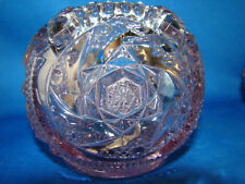 Daisy and Button Hobnail Light Purple Glass Vase Round Footed Fenton ? RARE @16