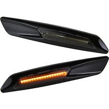 LED SMD Seiten Blinker getönt SCHWARZ BMW 3er 5er X1 X3 E90 E60 E61 E84 7130-1