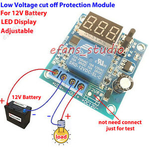 Led Display 12V Battery Low Voltage cut off On Switch Excessive Protection Board