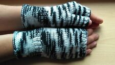 Wool blend wrist warmers fingerless gloves handknitted handmade NEW