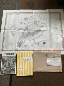 1970 Map Of Macau And Guides .. Portugal Consulate General