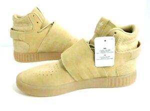 Adidas Tubular Invader Strap Boot Beige Khaki Men's Sneaker High Size 8.5 New