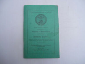 The Royal Antediluvian Order of Buffaloes. Manual of Instruction 1937 Pb
