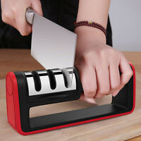 Kitchen Knife Sharpener Manual  3 Stage  Sharpening Tool With Anti Slip Bas UK