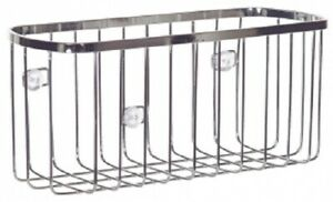 Interdesign RECTANGLE SUCTION BASKET 22.3x11x10.4cm Stainless Steel, Rust-Proof