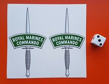 ROYAL MARINES COMMANDO DAGGERS  small stickers decals contour cut set of two