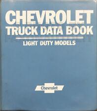 1982 Chevy Truck Data Book Upholstery Dealer Album Pickup Van Suburban Blazer