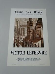 AFFICHE VICTOR LEFEBVRE GALERIE ALAIN BECIANI 1984  40x60cm
