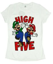 MARIO and LUIGI High Five Shirt Women's Large L NeW Super Soft Cotton Slim Fit