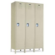 """Single-Tier Metal School Lockers 45""""W X 18""""D X 72""""H-78""""H W/Legs - 3 openings"""