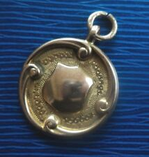Vintage 9ct Rose & Yellow Gold Watch Fob Medal / Pendant h/m 1929 - not engraved