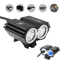50000LM X2 CREE XM-L T6 LED Bike Bycicle Headlamp Headlight Rechargeable Light