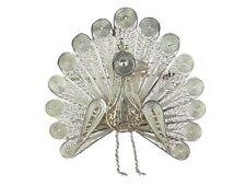 Art Deco 800 Silber Pfau filigrane Brosche Nadel antik