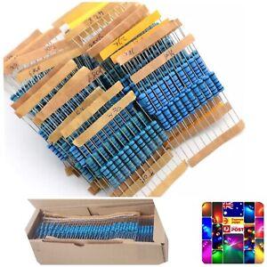 300PCS 2W 2 Watt Metal Oxide Film Resistor Axial Leads 10-1MOhm ±1% Tolerance