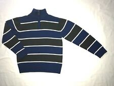 Boys Sweater Pullover Zip Neck Striped Children's Place Blue Gray Size M (7/8)