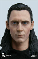 JXTOYS 1/6 Male LOKI Tom Avengers Head Sculpt Carving Model For 12'' Figure Doll