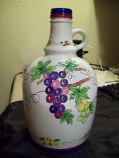 BEAUTIFUL HAND PAINTED CHRISTOFFEL WINE JUG 9 1/2 INCHES TALL VERY NICE! 12/2000