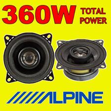 """Potenza totale ALPINE 360 W 2WAY 10cm/4"""" SXE/SXV Auto/Furgone Altoparlanti Porta Scaffale"""