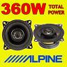 """ALPINE 360W TOTAL 2WAY 10cm/4"""" SXV-1025E SXE-1025S CAR/VAN DOOR SHELF SPEAKERS"""