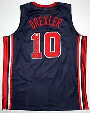 Clyde Drexler Signed Jersey JSA USA 1992 Olympic Dream Team