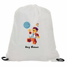 PERSONALISED LEGO SPACE MAN DEATH STAR  GYM SWIMMING PE SCHOOL DRAWSTRING BAG