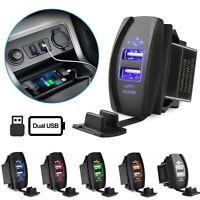 3.1A Dual USB Socket Charger Power Adapter LED 12V 24V For Car Motor Waterproof