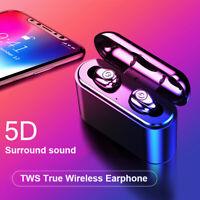 Wireless Earbud TWS Mini True bluetooth 5.0 Stereo Earphone Bass In-Ear Headset