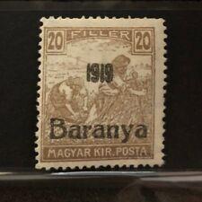 Stamp Hungary Hungaria Filler Baranya 1919  Magyar Kir Posta Ungarn Short Perf *
