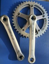VINTAGE STRONGLIGHT 107 ALLOY CHAINSET 42/38 TOOTH CHAINRINGS,IN EX CON,L'EROICA