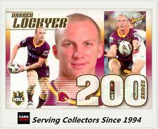 Select NRL Limited Edition Case Card: 2007 NRL Invincibles CC8 Darren Lockyer