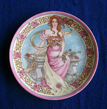Wedgewood Rose Plate by Valerie Leonard Danbury Mint First Edition