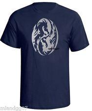 Ying Yang Symbol Silver Logo T-Shirt Asian Dragon S-5XL