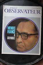 Le Nouvel Observateur N°104 Novembre 1966 - Mendes France à Grenoble