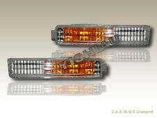 Fit for 1990-1991 Honda Accord Clear Front Bumper Signal Lights